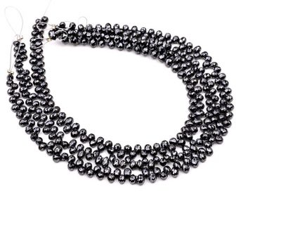 AAA Quality 3-3.5mm Black Diamond Tear Drop Faceted Beads