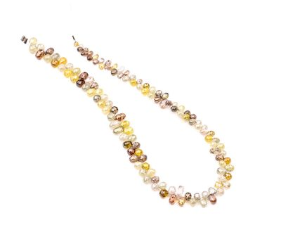 AAA Quality 2-3.5mm Multi Color Diamond Tear Drop Faceted Beads