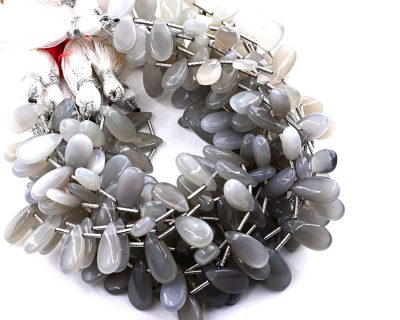 Gray Moonstone 7X15mm Smooth Pear
