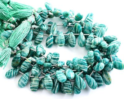 Russian Amazonite 7X15mm Smooth Pear