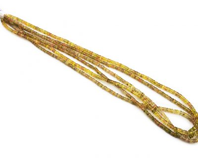 Sapphire Yellow 3-4mm Faceted Rondelle