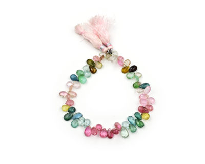 Multi Color Afghani Tourmaline Faceted Pear 5X8mm -6X9mm