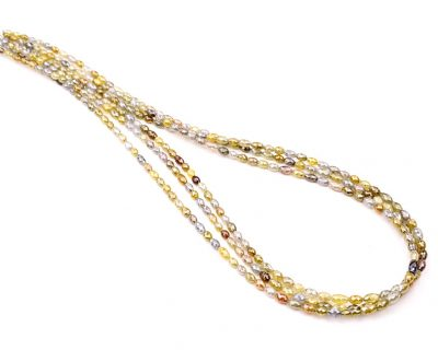AAA Quality 2.5-3.5mm Multi Color Diamond Oval Faceted Beads