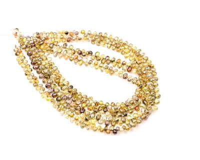 AAA Quality 2-3mm Multi Color Diamond Tear Drop Faceted Beads