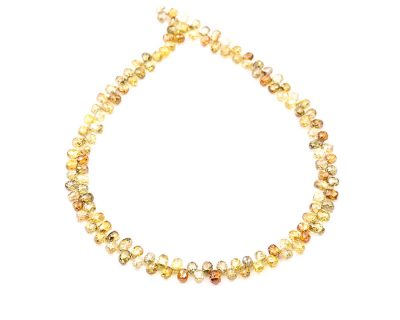 AAA Quality 2mm Multi Color Diamond Tear Drop Faceted Beads
