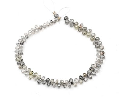 AAA Quality 2-3.5mm Gray Diamond Tear Drop Faceted Beads