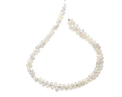 AAA Quality 2-3.5mm White Diamond Tear Drop Faceted Beads